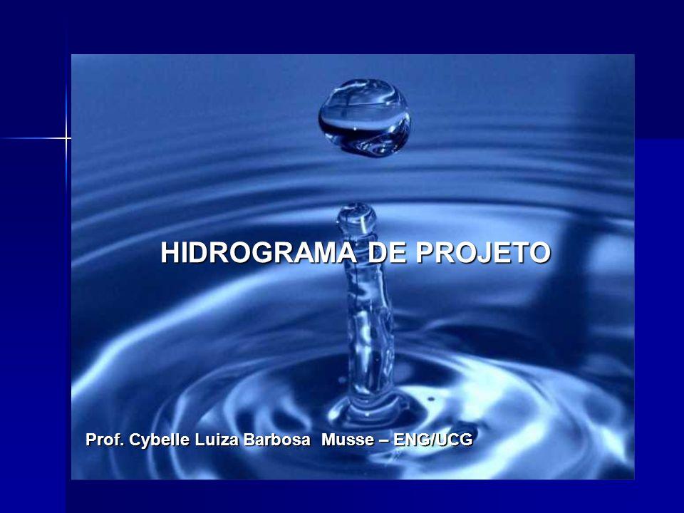 1 INTRODUÇÃO O hidrograma de projeto ou hidrograma tipo Determinado com base em dados históricos de vazão ou com base na precipitação, com um risco escolhido ;