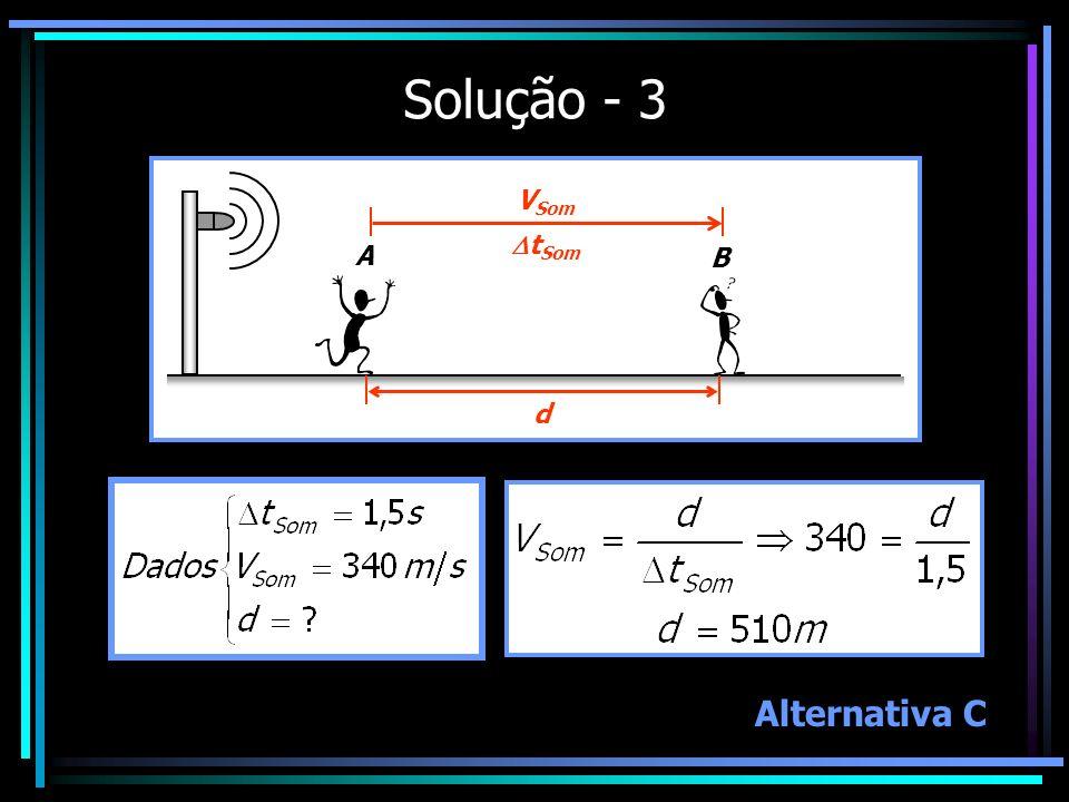 Solução - 3 A B V Som t Som d Alternativa C