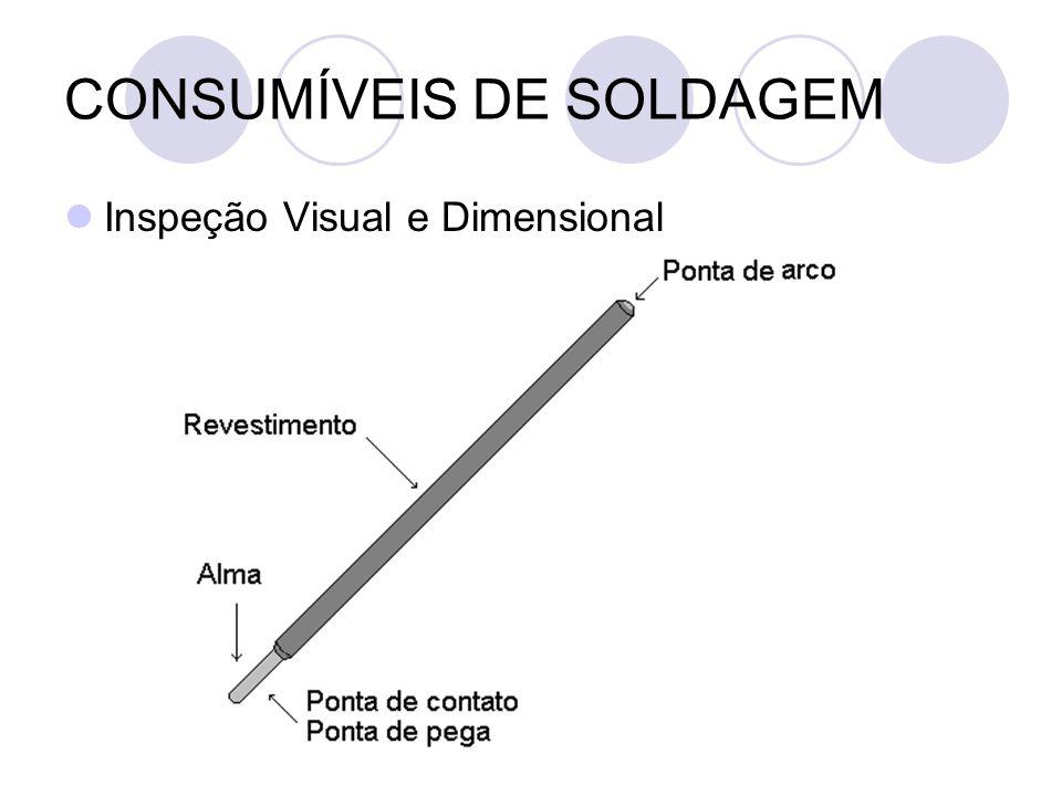 CONSUMÍVEIS DE SOLDAGEM Inspeção Visual e Dimensional