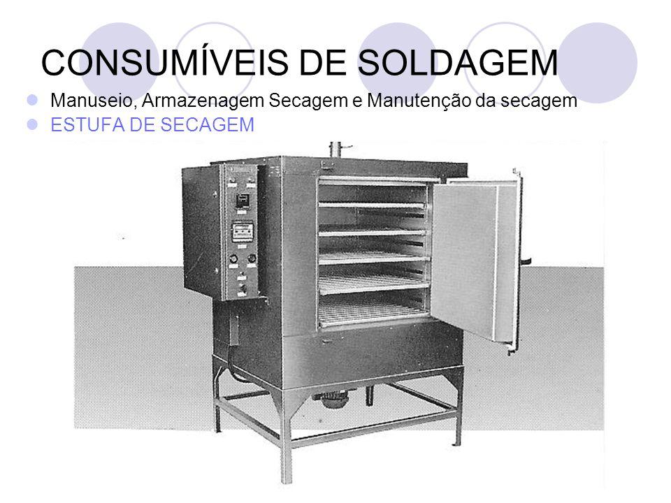 CONSUMÍVEIS DE SOLDAGEM Manuseio, Armazenagem Secagem e Manutenção da secagem ESTUFA DE SECAGEM