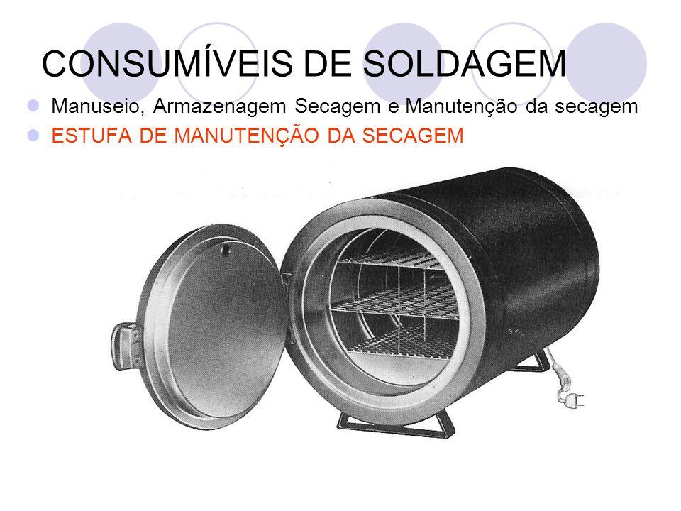 CONSUMÍVEIS DE SOLDAGEM Manuseio, Armazenagem Secagem e Manutenção da secagem ESTUFA DE MANUTENÇÃO DA SECAGEM
