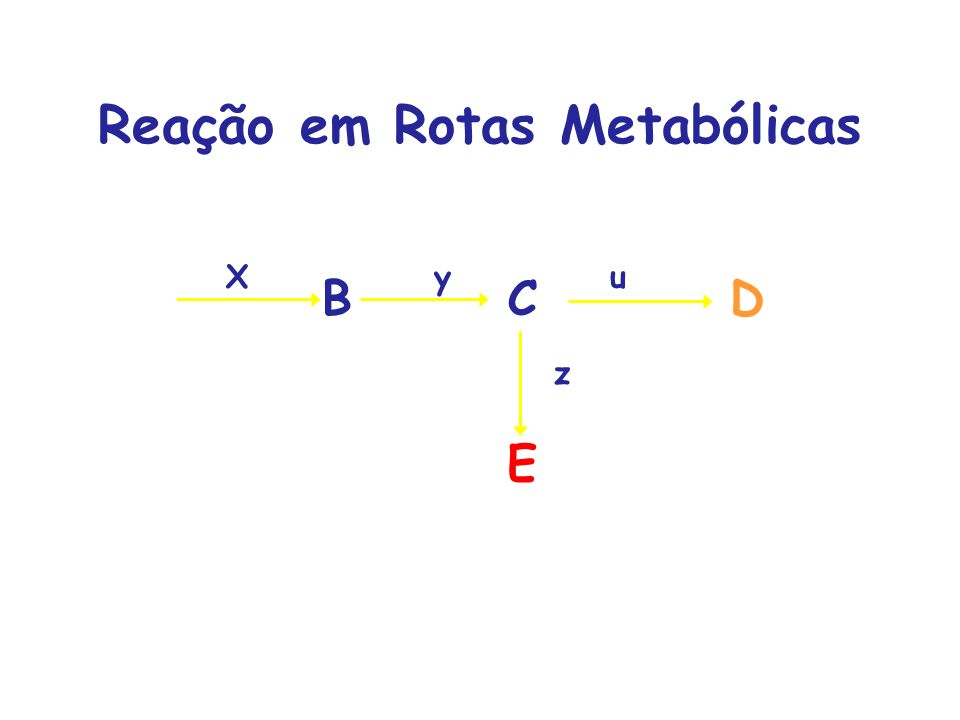 Reação em Rotas Metabólicas ABCD Xyu E z