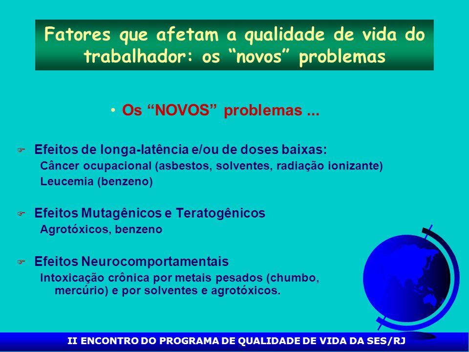 II ENCONTRO DO PROGRAMA DE QUALIDADE DE VIDA DA SES/RJ O Modelo de Saúde Ocupacional F Quais os principais enfoques da saúde ocupacional .