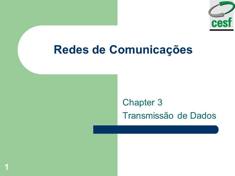 1 Redes de Comunicações Chapter 3 Transmissão de Dados