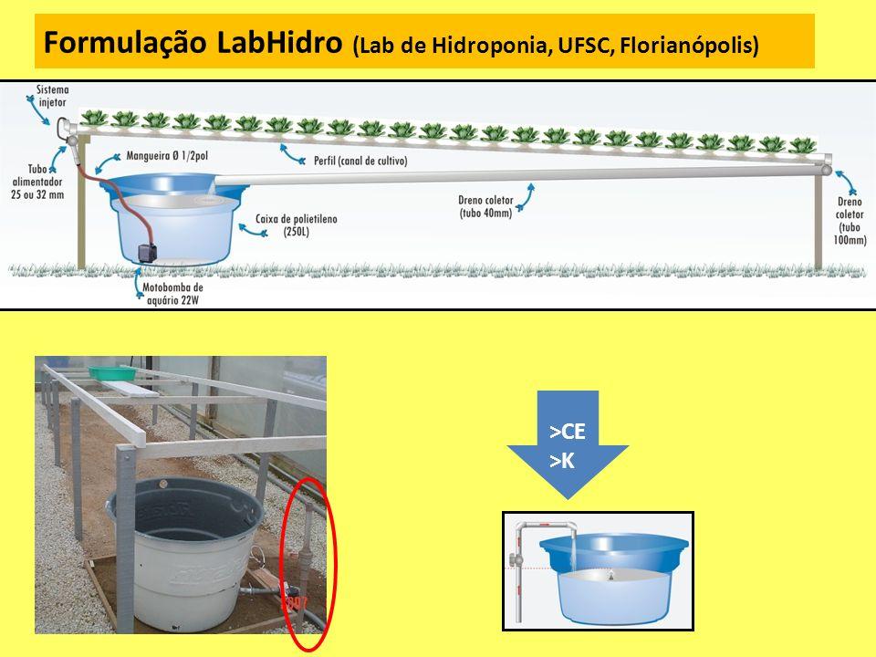 Formulação LabHidro (Lab de Hidroponia, UFSC, Florianópolis) >CE >K