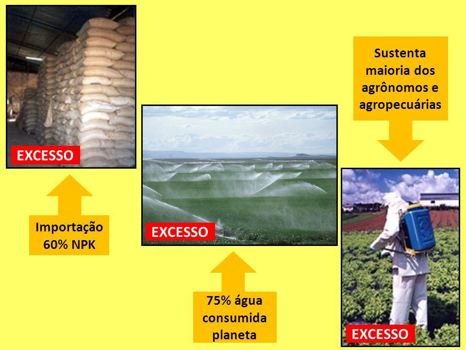 75% água consumida planeta Importação 60% NPK Sustenta maioria dos agrônomos e agropecuárias