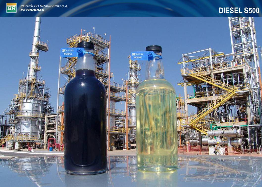 HDT Diesel REGAP (U-210) - Início de operação em agosto de 2004 - Valores médios de performance: Carga: 3.800 m³/d (55,6 %v de instáveis) Enxofre na carga: 4.750 ppm Enxofre no produto: 198 ppm (95,8% remoção) N total na carga: 1617 ppm N total no produto: 431 ppm (73,4% remoção)