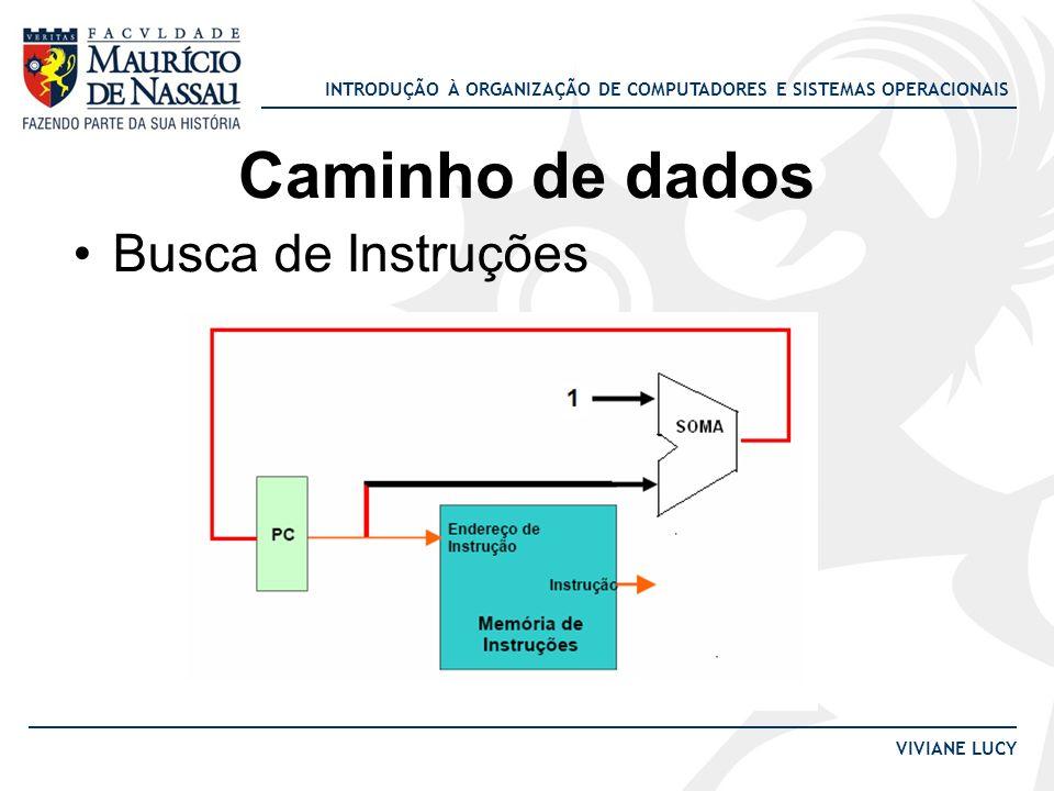 INTRODUÇÃO À ORGANIZAÇÃO DE COMPUTADORES E SISTEMAS OPERACIONAIS VIVIANE LUCY Caminho de dados Busca de Instruções