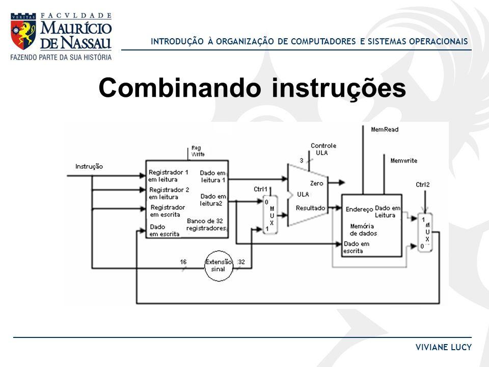 INTRODUÇÃO À ORGANIZAÇÃO DE COMPUTADORES E SISTEMAS OPERACIONAIS VIVIANE LUCY Combinando instruções