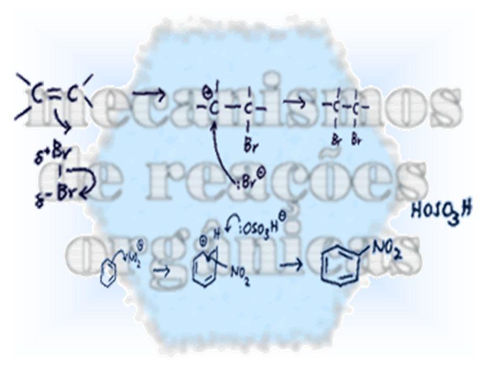 Como a reação ocorre via formação de um carbocátion, podem ocorrer rearranjos, assim como no caso das reações SN1, no sentido da formação do carbocátion mais estável.