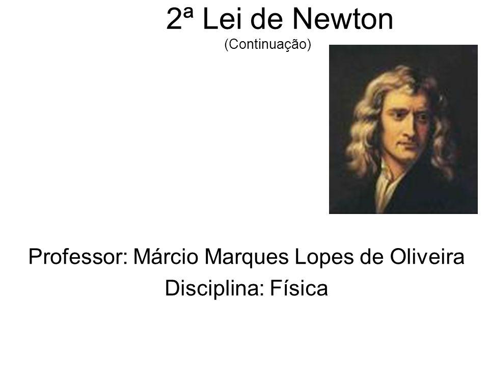 2ª Lei de Newton (Continuação) Professor: Márcio Marques Lopes de Oliveira Disciplina: Física