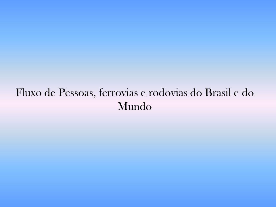 Fluxo de Pessoas, ferrovias e rodovias do Brasil e do Mundo