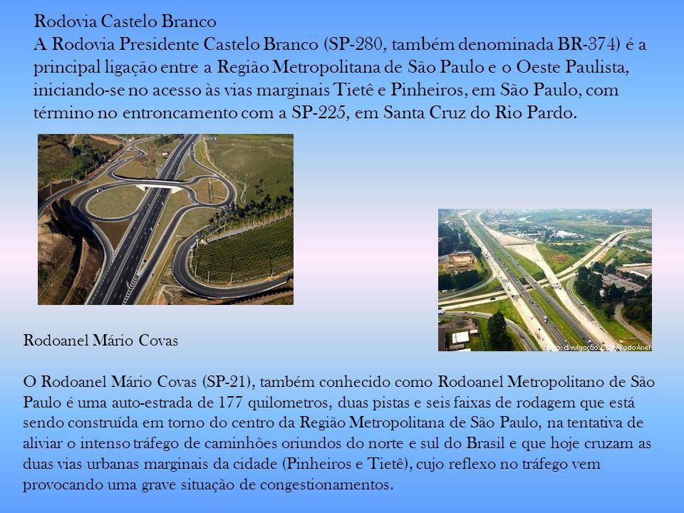 Rodoanel Mário Covas O Rodoanel Mário Covas (SP-21), também conhecido como Rodoanel Metropolitano de São Paulo é uma auto-estrada de 177 quilometros,