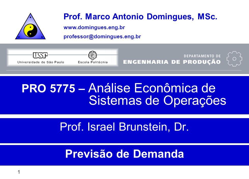 USP - Escola PolitécnicaPrevisão de Demanda31 Previsão de Vendas São baseadas em estimativas de demanda de mercado.