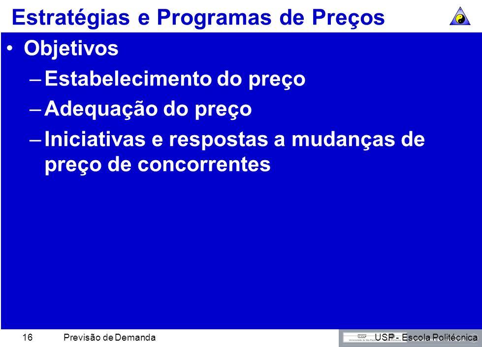 USP - Escola PolitécnicaPrevisão de Demanda15 O Triângulo do Lucro Criação de valor Vantagem competitiva Operações internas LucroLucro