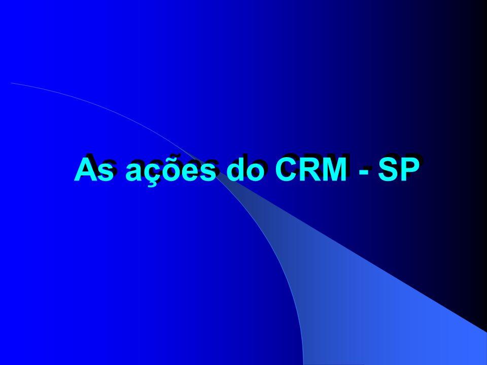 As ações do CRM - SP