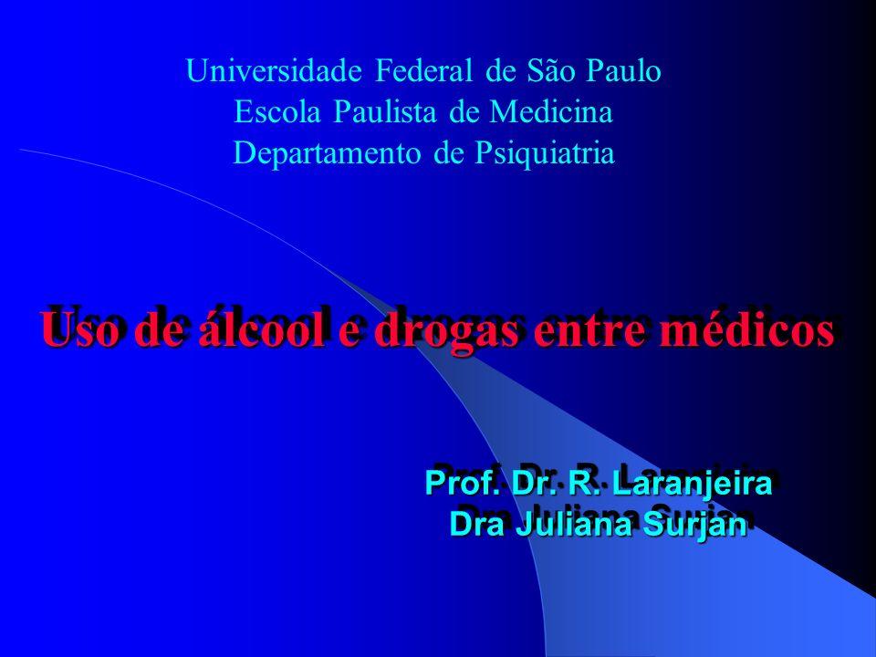 Prof. Dr. R. Laranjeira Dra Juliana Surjan Universidade Federal de São Paulo Escola Paulista de Medicina Departamento de Psiquiatria Uso de álcool e d
