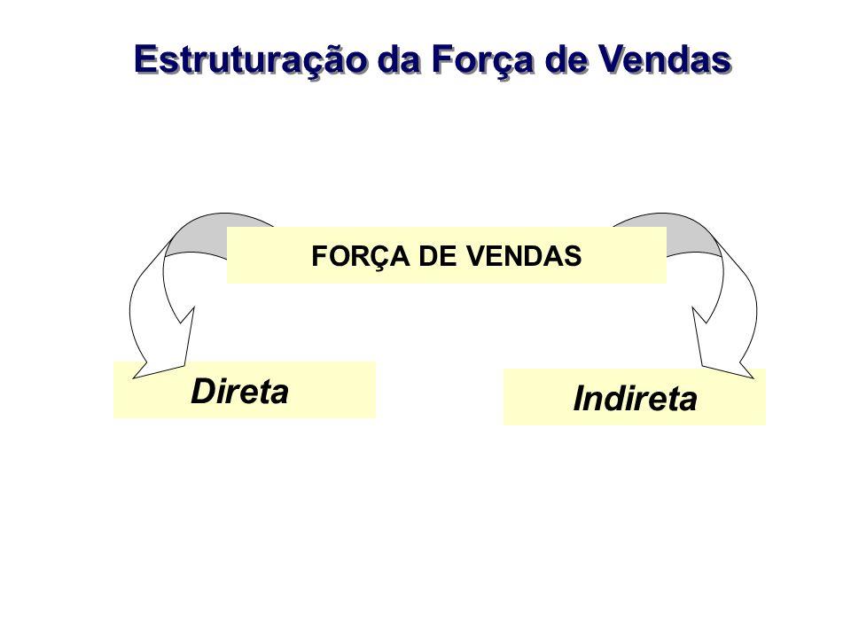 Estruturação da Força de Vendas Direta Indireta FORÇA DE VENDAS