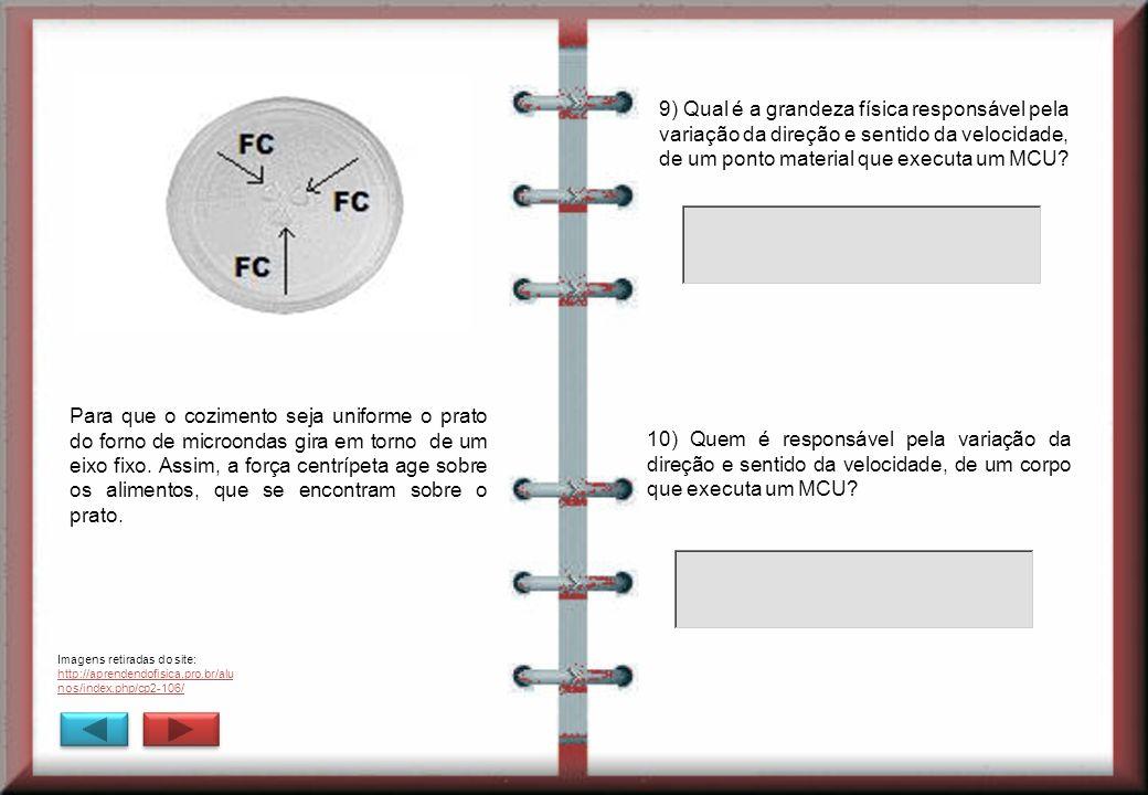 Imagens retiradas do site: http://aprendendofisica.pro.br/alu nos/index.php/cp2-106/ 9) Qual é a grandeza física responsável pela variação da direção