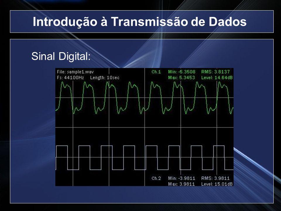 Multiplexação no Tempo (cont.): Síncrona O tempo é dividido em intervalos T Um intervalo T é subdivido em subintervalos chamados slots T Slot T Introdução à Transmissão de Dados