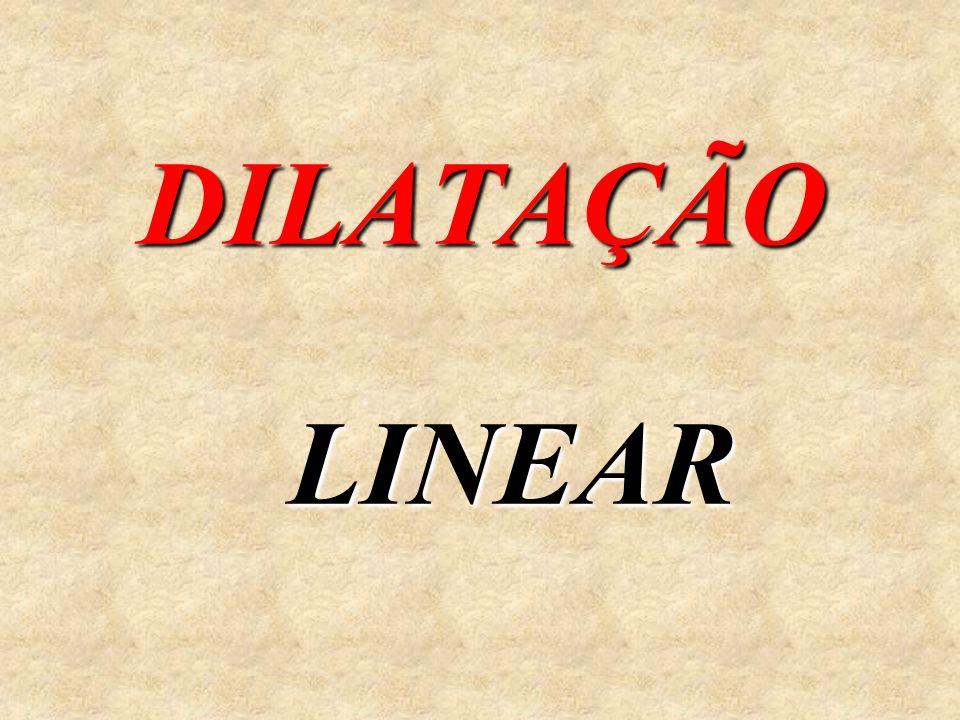 Í N D I C E DilataçãoDilatação Linear Superficial Volumétrica CoeficientesCoeficientes FórmulasFórmulas DilataçãoDilatação dos Líquidos da Água