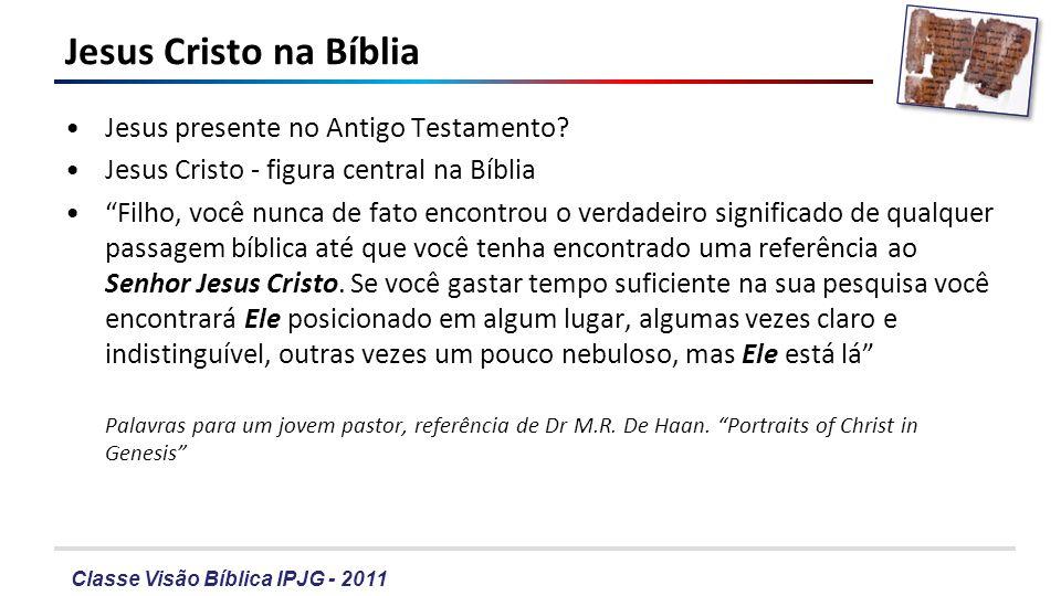 Classe Visão Bíblica IPJG - 2011 Gênesis 1-11 – Deus criou.
