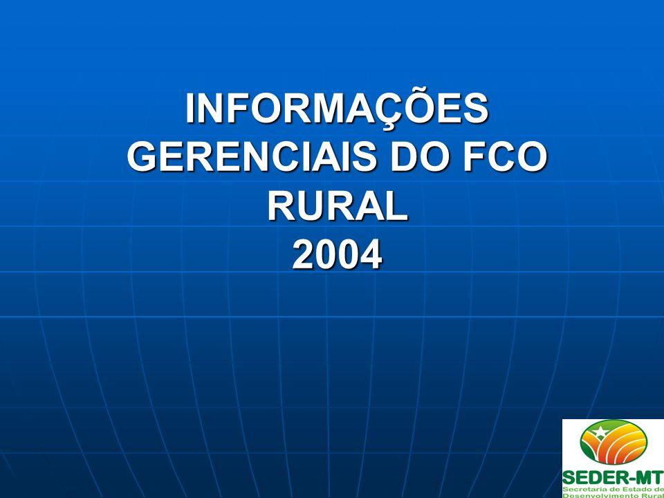 INFORMAÇÕES GERENCIAIS DO FCO RURAL 2004