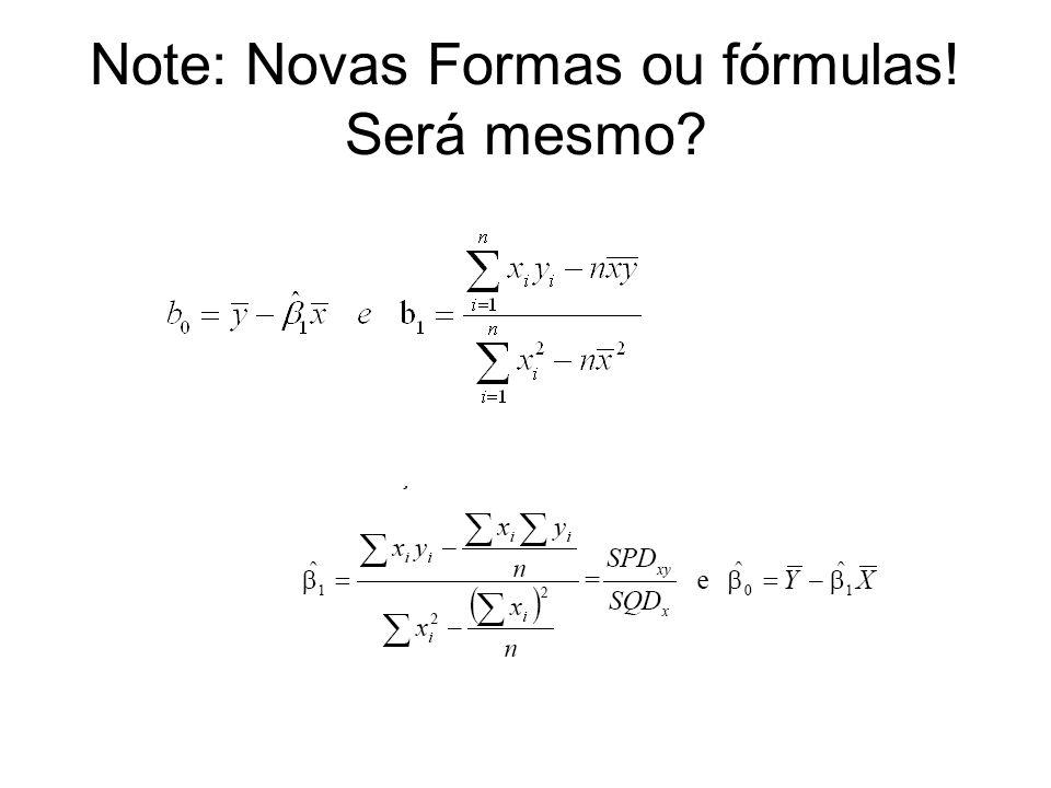 Note: Novas Formas ou fórmulas! Será mesmo?