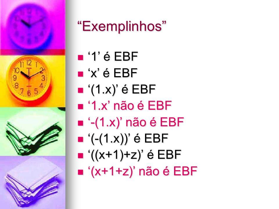 Validando expressões Dado φ Dado φ φ é construída com o alfabeto.