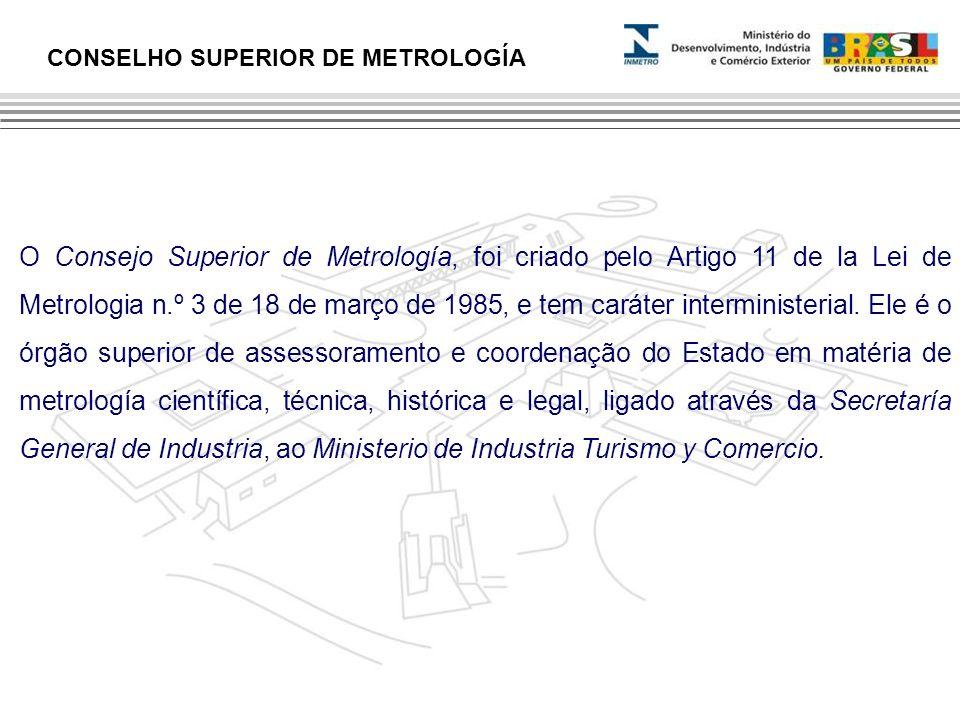 O Consejo Superior de Metrología, foi criado pelo Artigo 11 de la Lei de Metrologia n.º 3 de 18 de março de 1985, e tem caráter interministerial. Ele