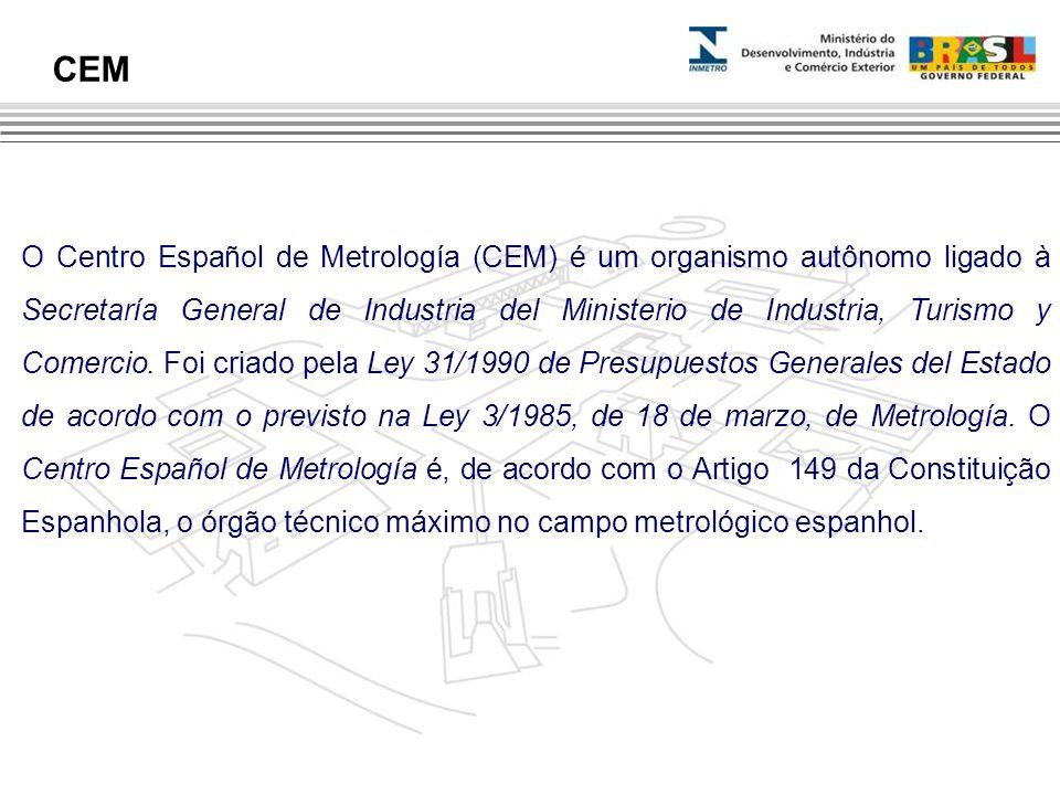 O Centro Español de Metrología (CEM) é um organismo autônomo ligado à Secretaría General de Industria del Ministerio de Industria, Turismo y Comercio.