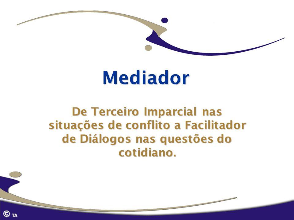 Mediador De Terceiro Imparcial nas situações de conflito a Facilitador de Diálogos nas questões do cotidiano. © TA
