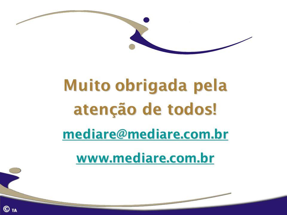 Muito obrigada pela atenção de todos! mediare@mediare.com.br www.mediare.com.br © TA
