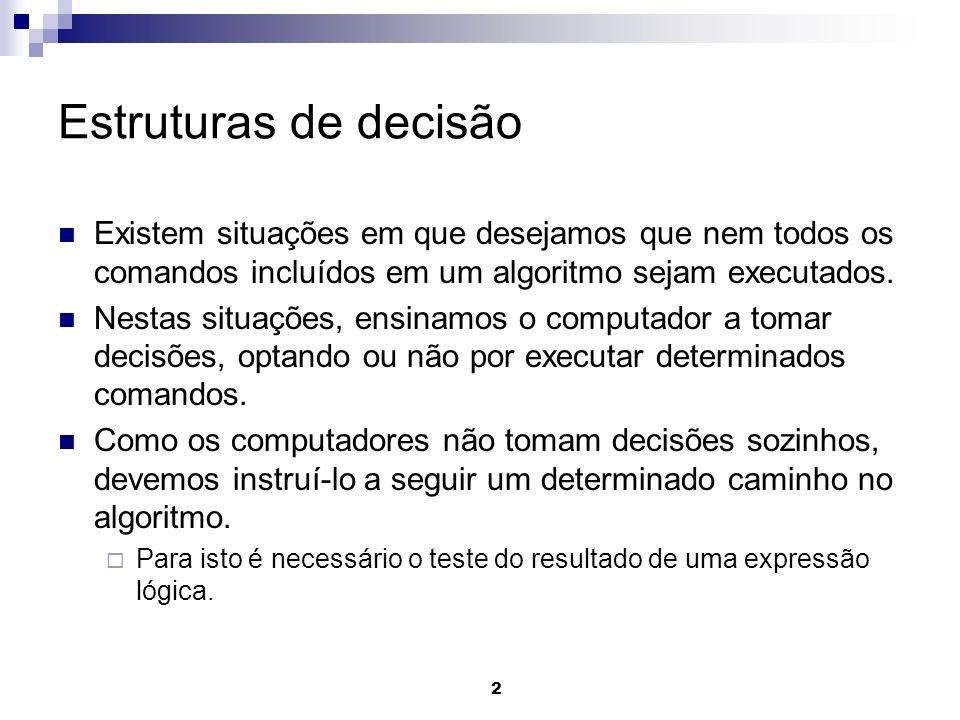 33 Exemplo Caso em Java public static void main(String[] args) { // declaração de variáveis int matricula = 0, final_numero =0; System.out.println( Forneça o número da matrícula: ); matricula=Leia(matricula); final_numero = matricula % 10; switch (final_numero) { case 0: System.out.println( Pagamento em Janeiro. ); break; case 1: System.out.println( Pagamento em Fevereiro. ); break;