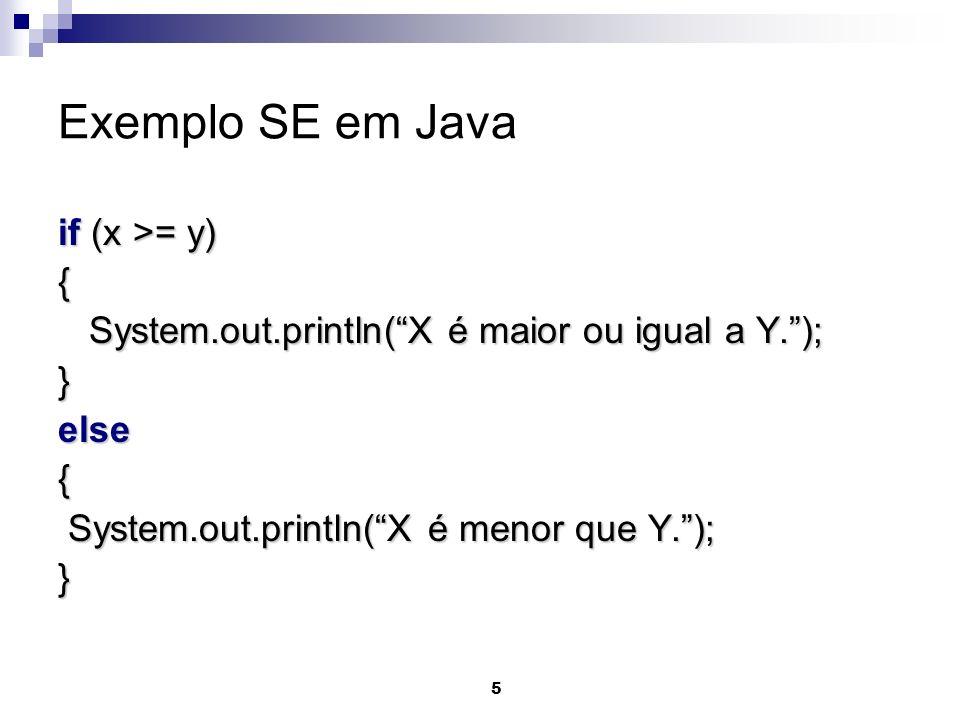 16 Solução public static void main(String[] args) { // declaração de variáveis int numero=0; System.out.println(Forneça o número: ); numero=Leia(numero); if (numero %2 == 0) System.out.println(O número é par.); else System.out.println(O número é ímpar.); }
