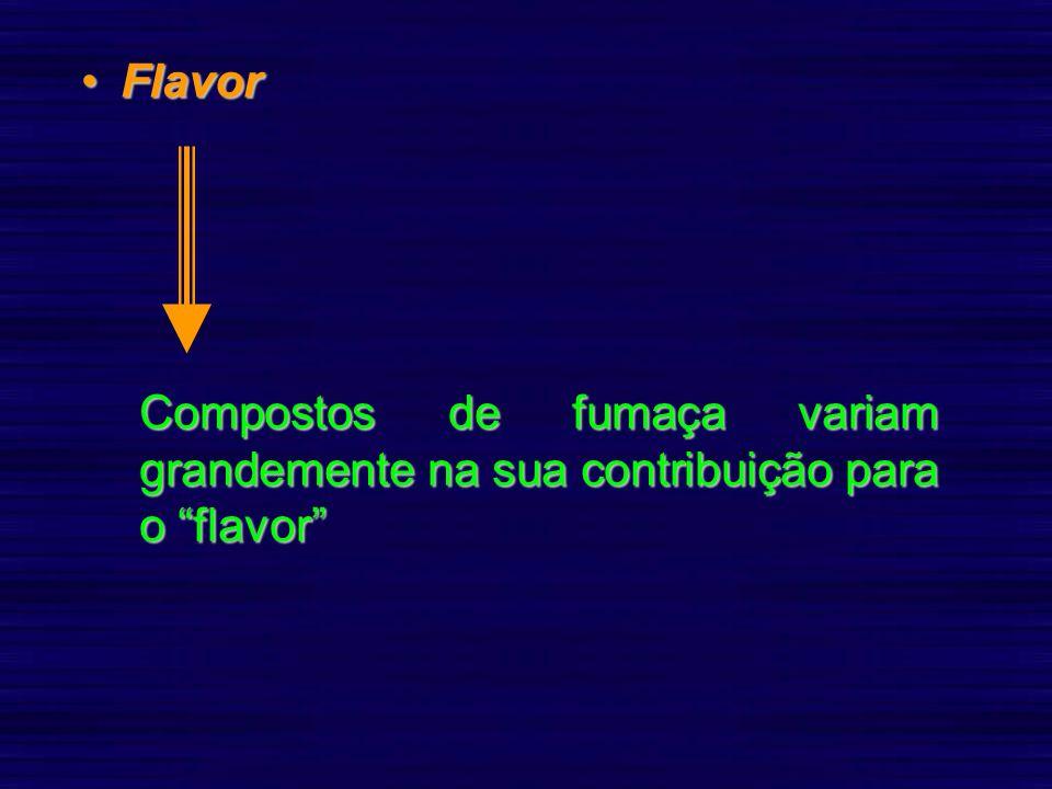 FlavorFlavor Compostos de fumaça variam grandemente na sua contribuição para o flavor