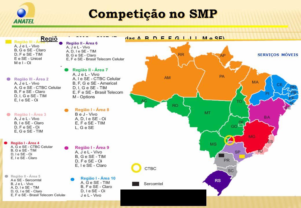 BusMeetDeutscheBank_nov_2009 Regiões do SMC e SMP (Bandas A, B, D, E, F, G, I, J, L, M e SE) Competição no SMP RR SERVIÇOS MÓVEIS