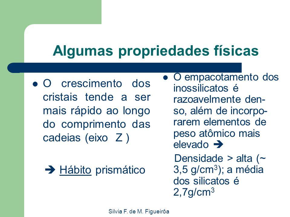 Silvia F. de M. Figueirôa Algumas propriedades físicas O crescimento dos cristais tende a ser mais rápido ao longo do comprimento das cadeias (eixo Z