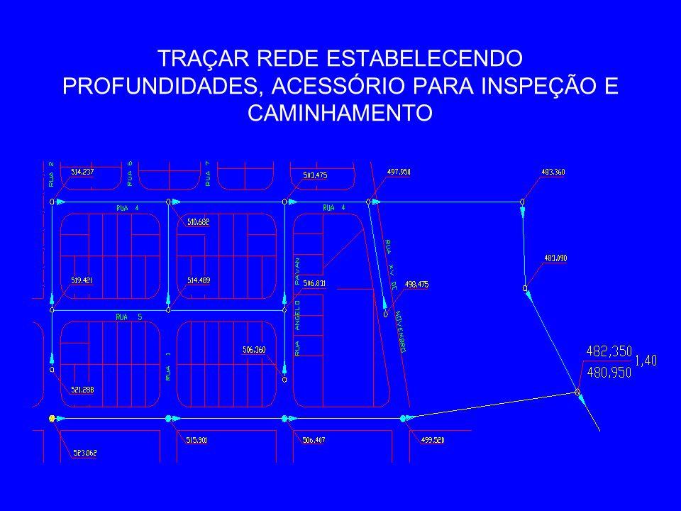 TRAÇAR REDE ESTABELECENDO PROFUNDIDADES, ACESSÓRIO PARA INSPEÇÃO E CAMINHAMENTO