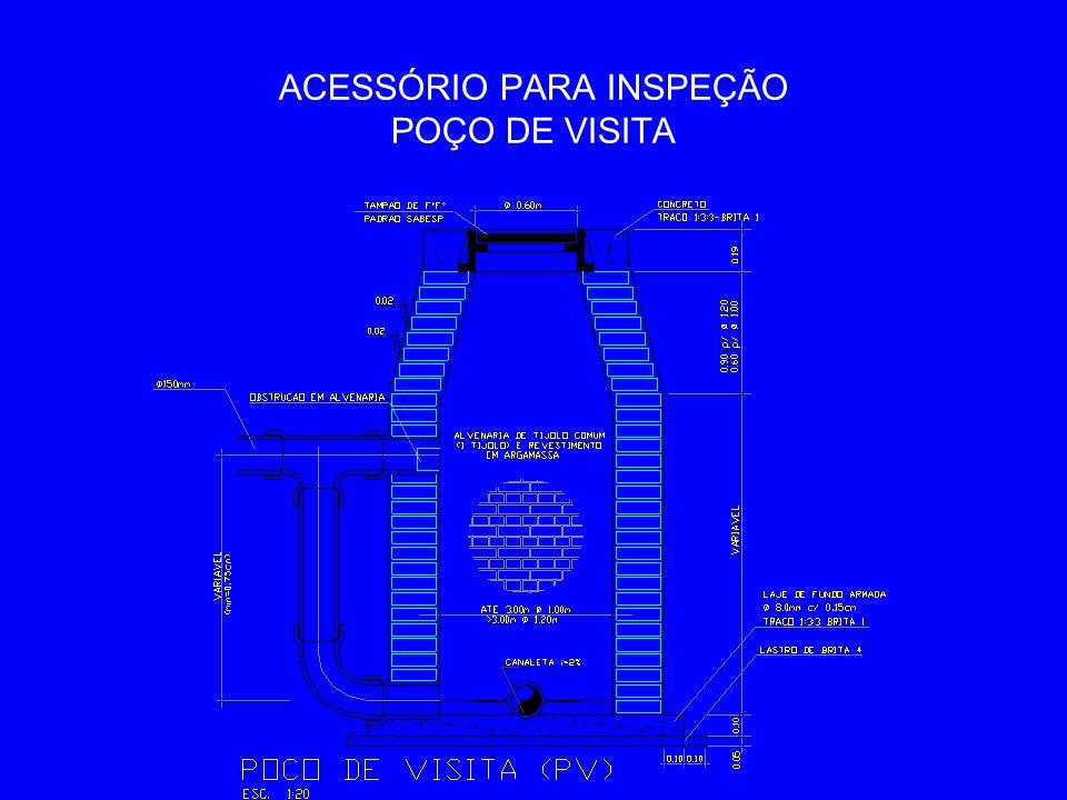 ACESSÓRIO PARA INSPEÇÃO POÇO DE VISITA