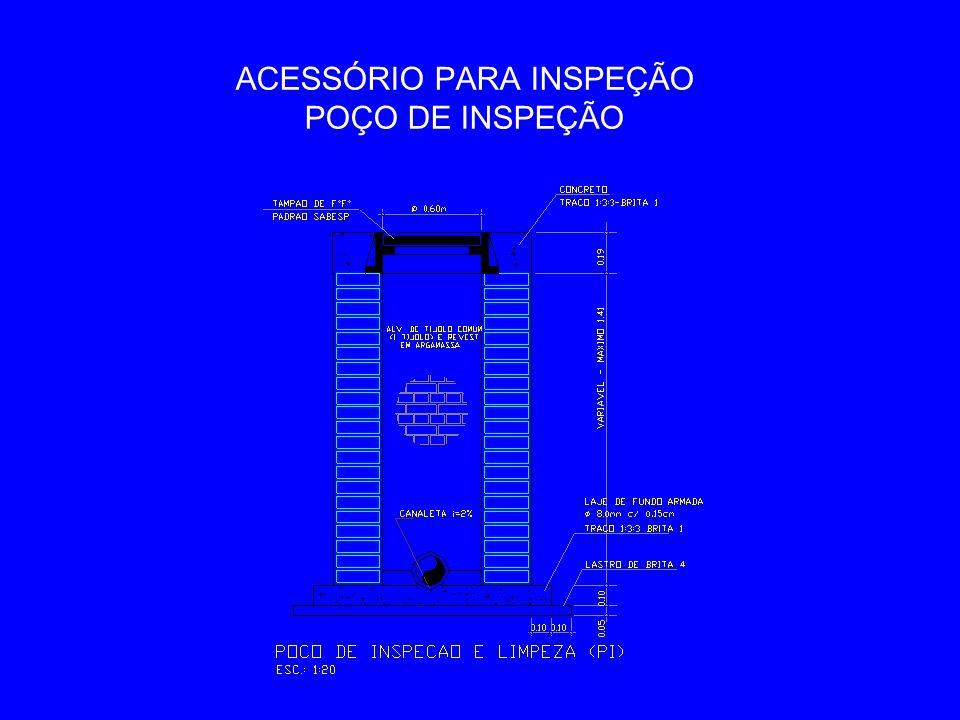 ACESSÓRIO PARA INSPEÇÃO POÇO DE INSPEÇÃO