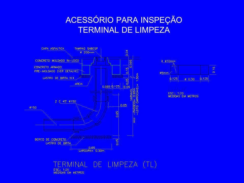 ACESSÓRIO PARA INSPEÇÃO TERMINAL DE LIMPEZA
