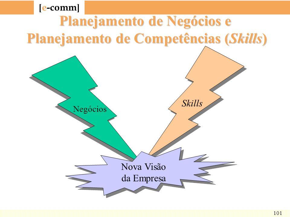 [ e-comm ] 101 Planejamento de Negócios e Planejamento de Competências (Skills) Negócios Skills Nova Visão da Empresa Nova Visão da Empresa
