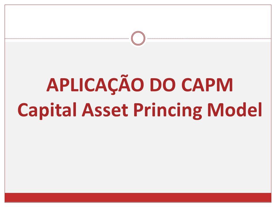 APLICAÇÃO DO CAPM Capital Asset Princing Model