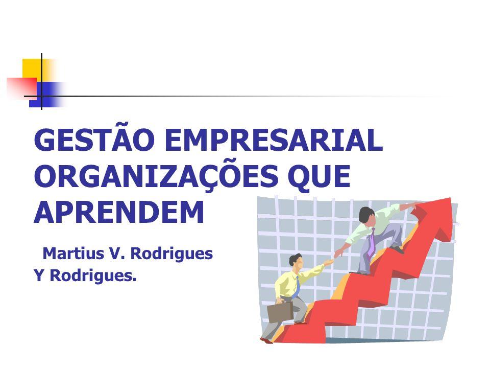 GESTÃO EMPRESARIAL ORGANIZAÇÕES QUE APRENDEM Martius V. Rodrigues Y Rodrigues.