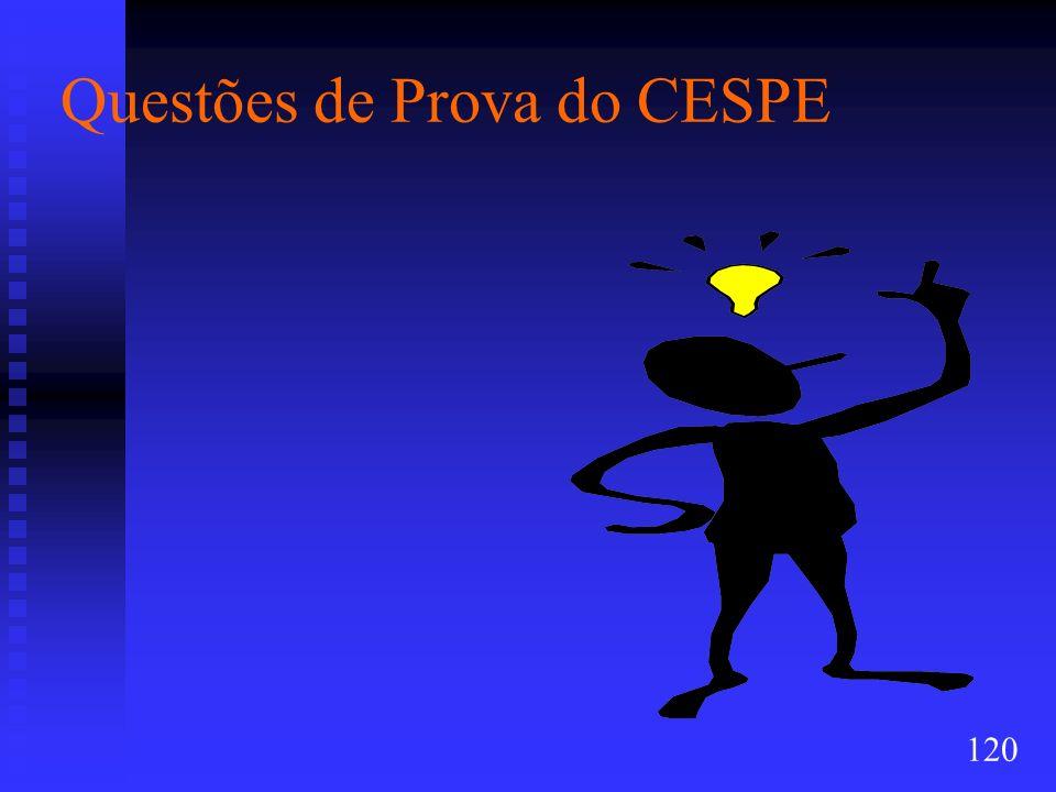 Questões de Prova do CESPE 120