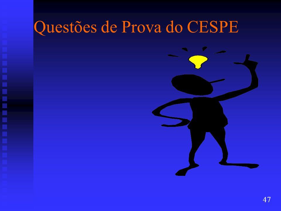 Questões de Prova do CESPE 47