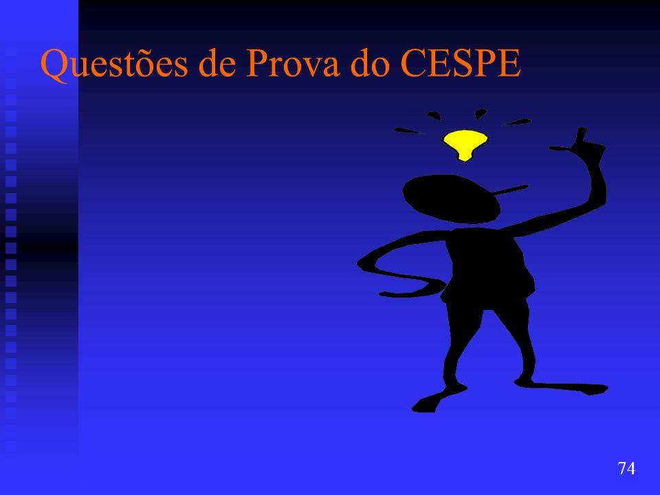 Questões de Prova do CESPE 74