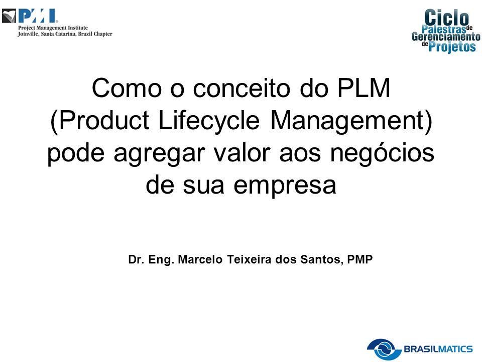 Como o conceito do PLM (Product Lifecycle Management) pode agregar valor aos negócios de sua empresa Dr. Eng. Marcelo Teixeira dos Santos, PMP