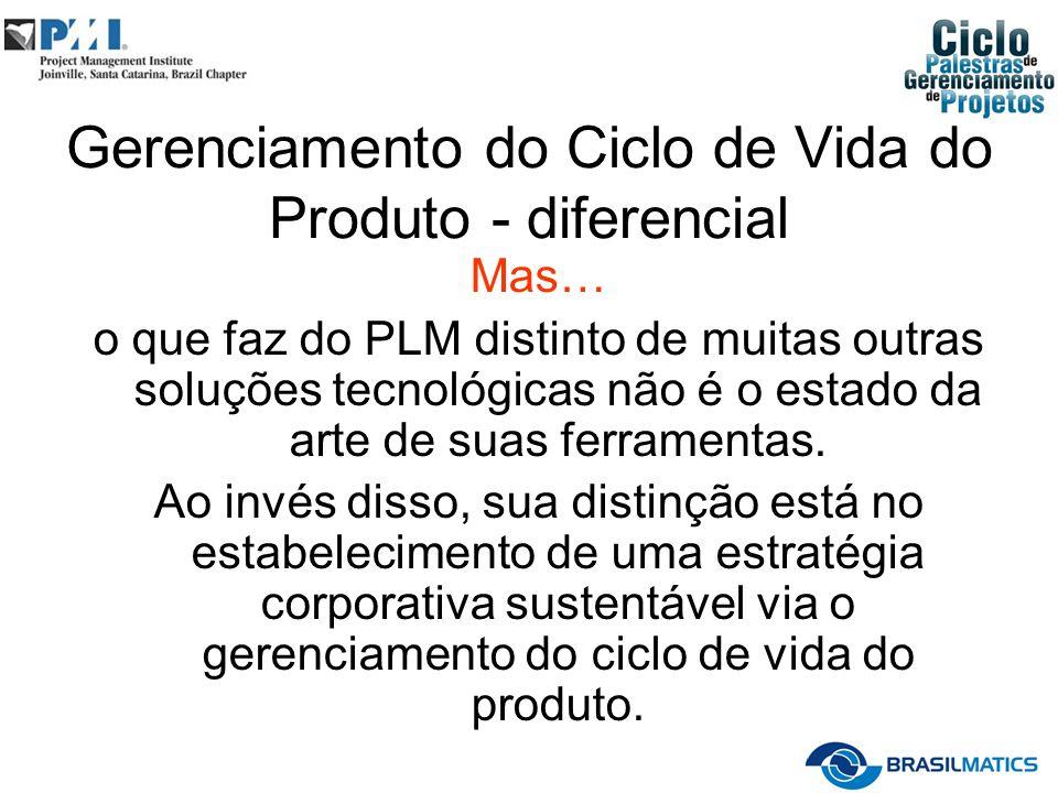 Gerenciamento do Ciclo de Vida do Produto - diferencial Mas… o que faz do PLM distinto de muitas outras soluções tecnológicas não é o estado da arte de suas ferramentas.